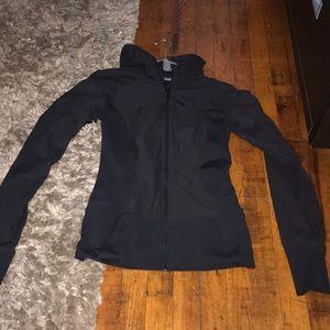 Lulu black workout jacket zip up